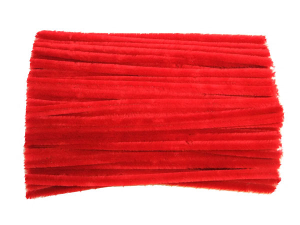 childrens-red-chenille-pipe-cleaners