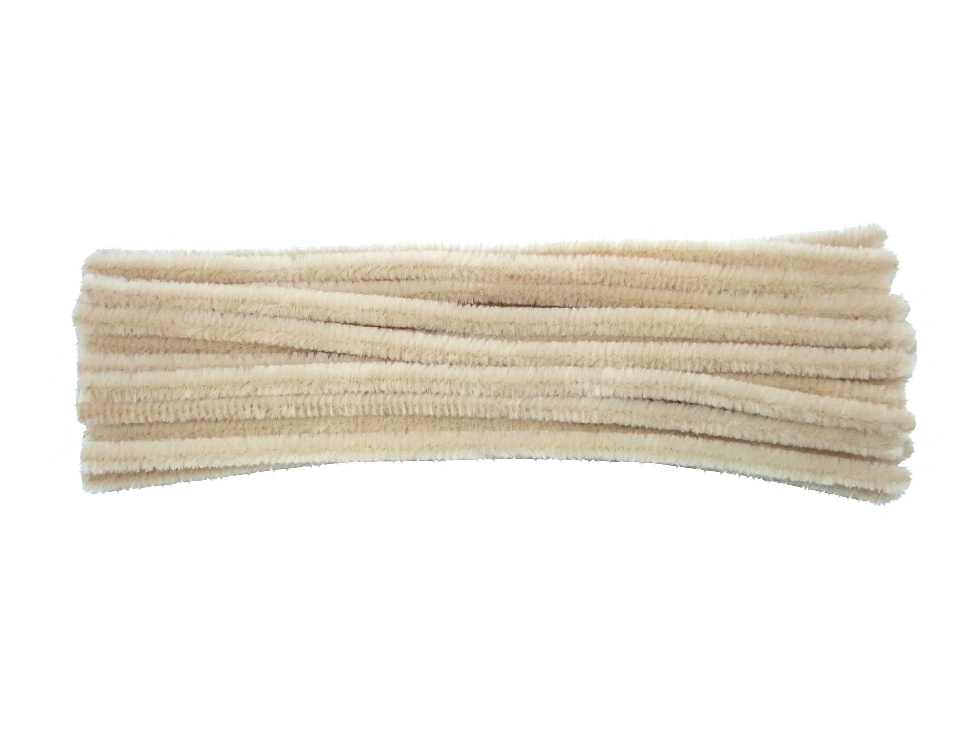 Luxury Sahara Beige Chenille Pipe Cleaners4mm 6mm 9mm or 12mmUK Made