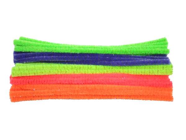 fluorescent-metallic-chenille-pipe-cleaners