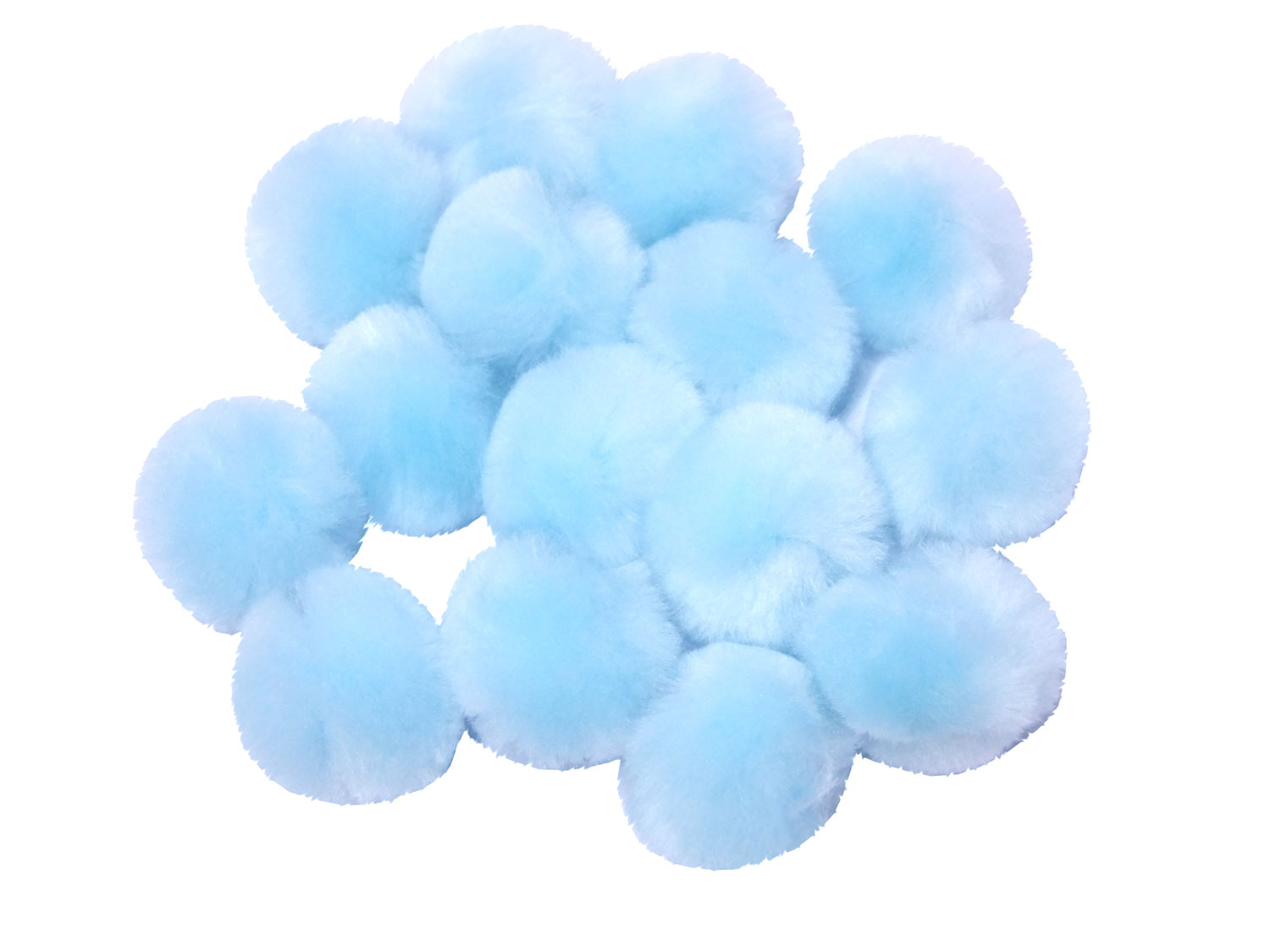 baby blue craft pom poms
