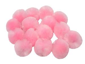 baby pink craft pom poms