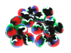 dark and bright pom poms