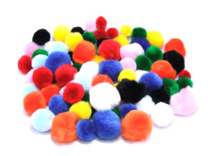 assorted craft pom poms