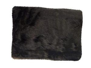 fur fabric black