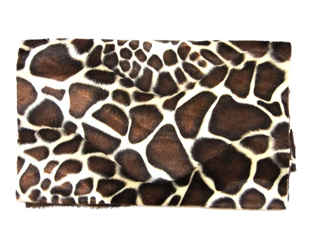 pony skin velboa upholstering fabric giraffe by the metre