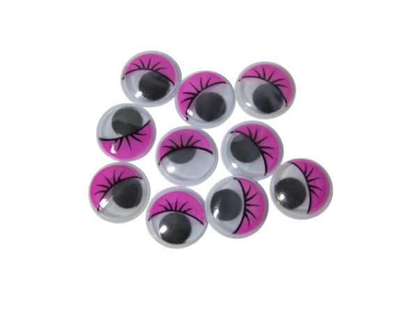 20mm Purple Googly Eyes