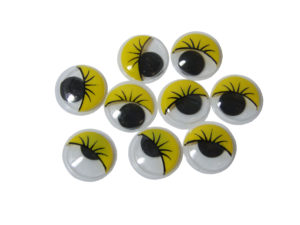 yellow googly eyes 20mm