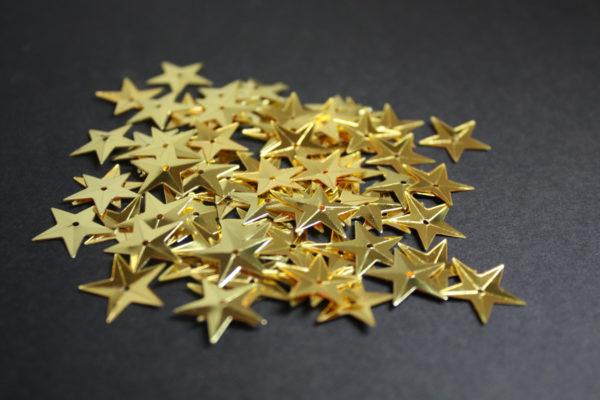 Gold star sequins