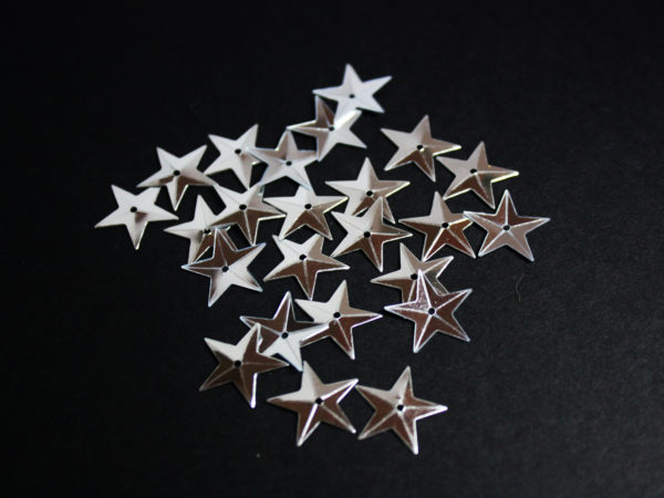Silver star sequins