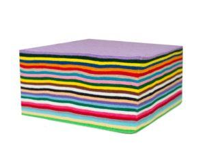100 assorted felt squares