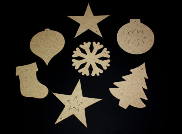 Christmas Paper Mache Shapes 2