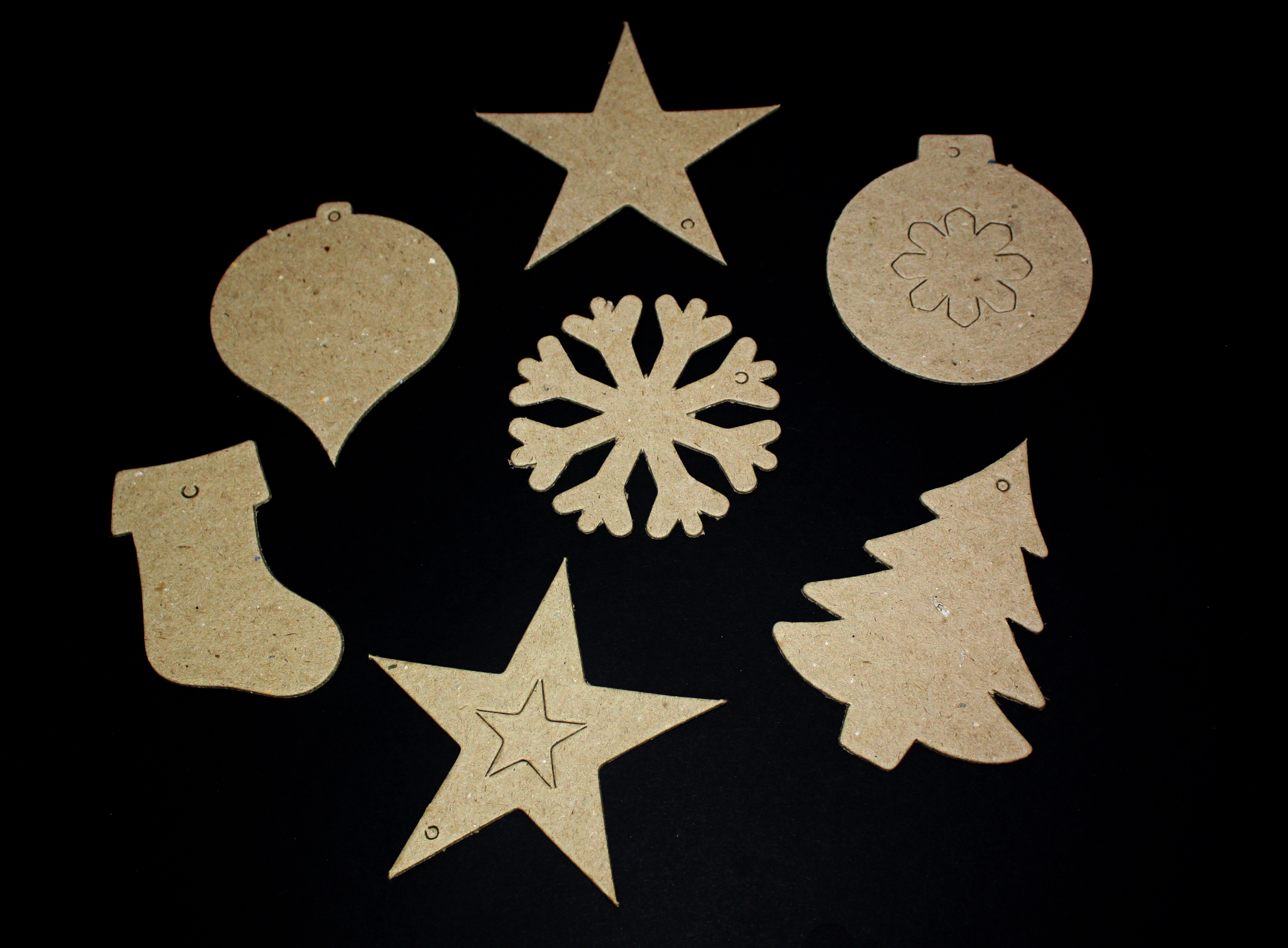 Christmas Paper Mache Shapes