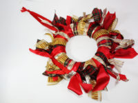 Christmas polystyrene wreath
