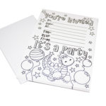 Colour your own invitations
