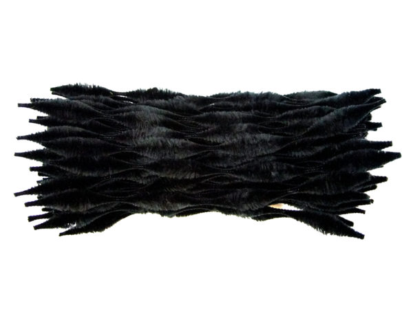 black-bump-chenille-pipe-cleaners