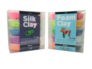 silk and foam clay