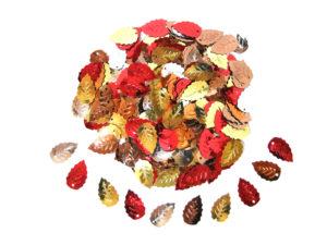 mixed autumn leaf sequins