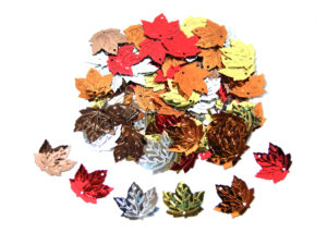 mixed maple leaf sequins