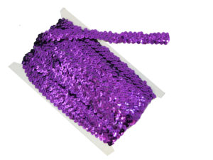 stretch sequin trim purple
