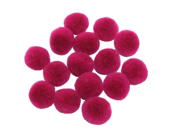 pink-craft-pom-poms