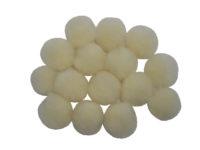 cream craft pom poms
