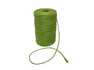 jute natural olive green twine