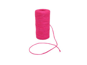 jute natural neon pink twine