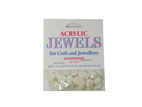 pearl white 10mm acrylic gems