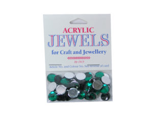 emerald 10mm acrylic gems