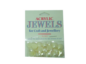 pearl cream 10mm acrylic gems