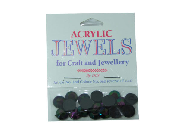 black ab 10mm acrylic gems