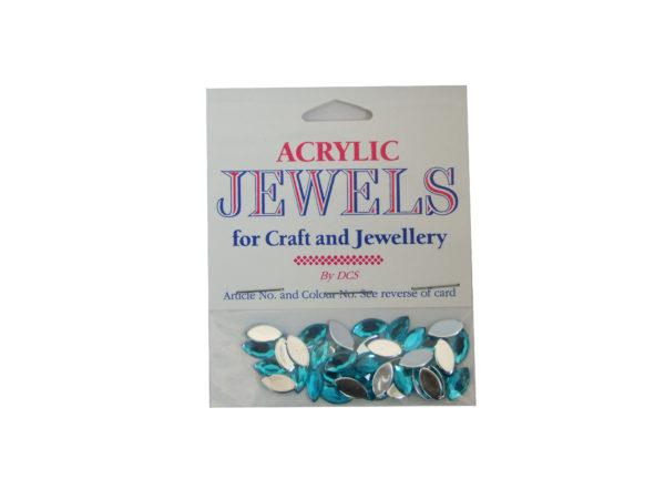 aqua marine 5mm x 10mm acrylic gems