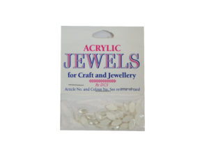 pearl white 5mm x 10mm acrylic gems