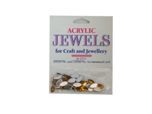 topaz 5mm x 10mm acrylic gems
