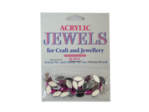 amethyst 5mm x 10mm acrylic gems