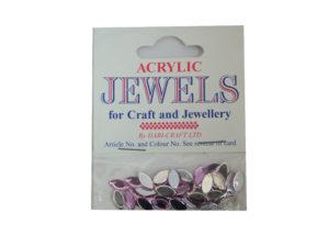 LT Amethyst 5mm x 10mm acrylic gems