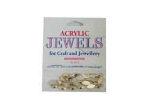 gold 5mm x 10mm acrylic gems