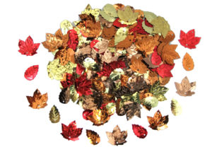 mixed autumn leaf sequins