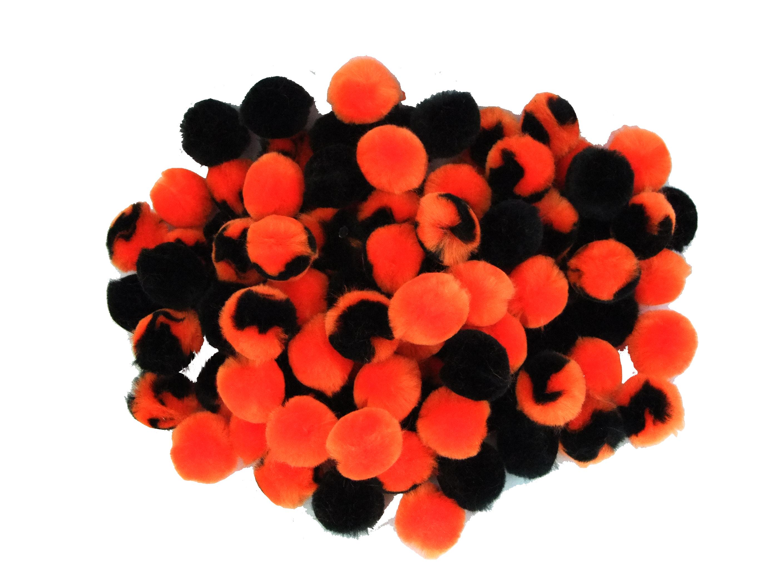 assorted halloween pom poms - Halloween Pom Poms