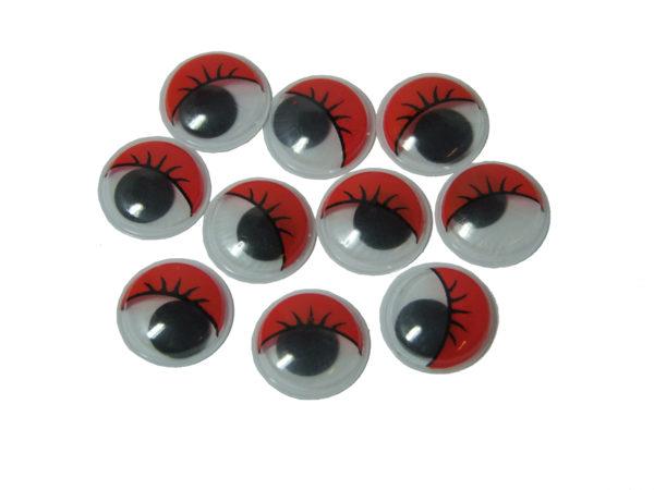 Googly Eyes Red 15mm