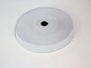 White elastic reel