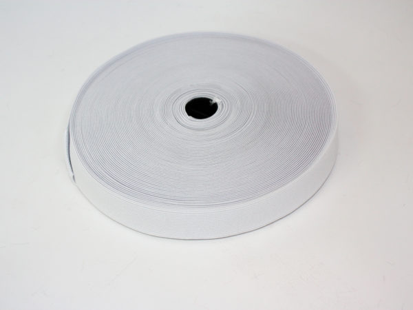 White elastic reel