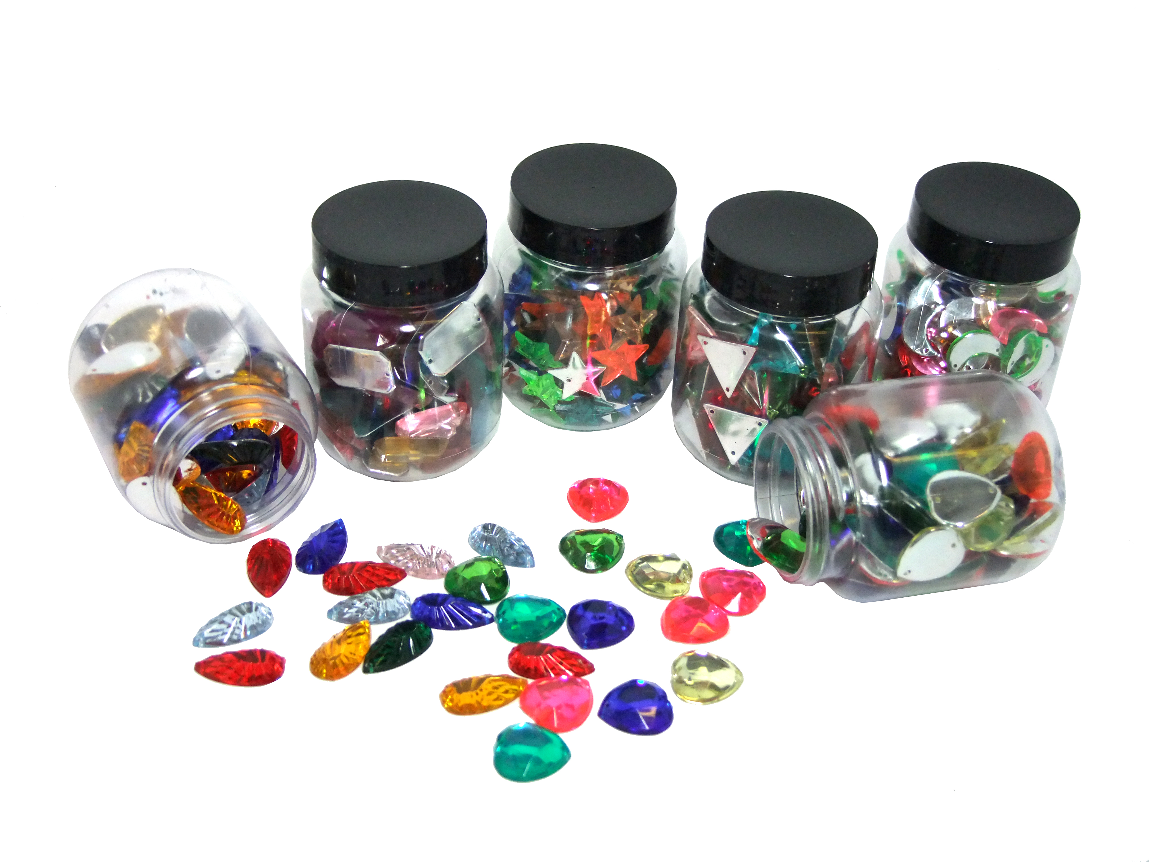 Assorted acrylic gem jewels art craft factory for Plastic gems for crafts