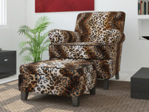 leopard upholstery