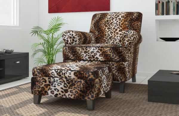 leopard upholstery