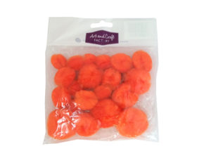 clearance-orange-pom-poms