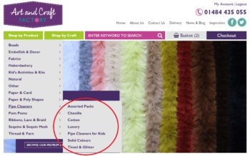 Craft Pipe Cleaners Categories